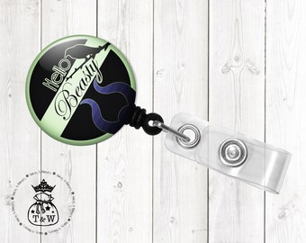 Maleficent Villain Fan Art Retractable ID Badge Holder