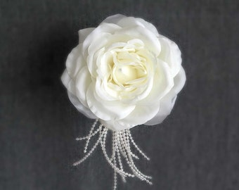 Wedding Hair Flower, Ivory Hair Flower, Bridal Hair Piece, Flower Wedding Hair Piece, Bridal Hairpiece, Bridal Hair Accessory