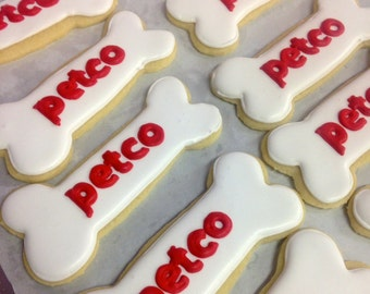 Customized logo cookies business logo sugar cookies - one dozen