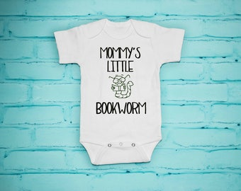 Mommy's Little Bookworm, Boy Clothes, Girl Clothes, Book Lover, Reader,