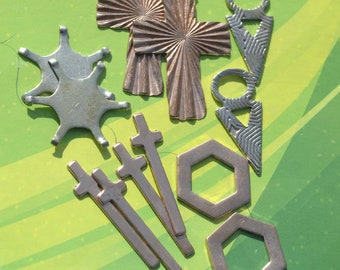 Special of the Day - 12 pieces Mix-Metal Shapes these are Left Overs Blanks #13