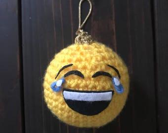 Tears of Joy Emoji Ball Ornament