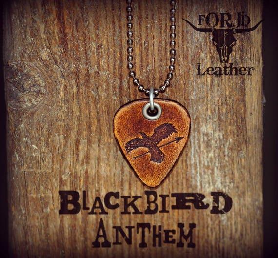 Blackbird Anthem Leather Guitar Pick Necklace