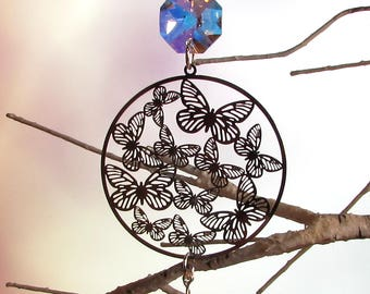 Prism Suncatcher, Christmas Ornament, Crystal Butterfly, 1S-63