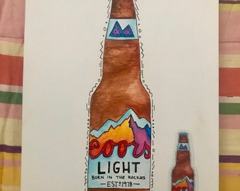 Coors Light No. 1 print