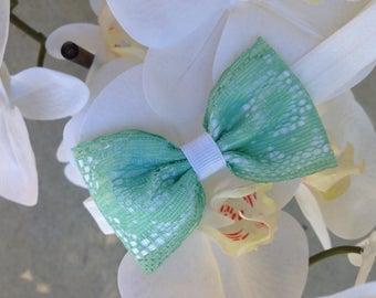 Baby Mint lace headband