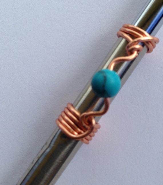 Turquoise Copper Dreadlock Bead Dread Locs Accessories
