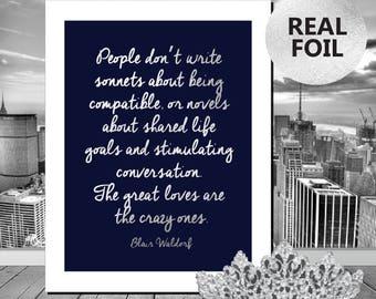 A4/A3 Blair Waldorf Gossip Girl Quote Print - Gossip Girl Print -  Gossip Girl Gold Foil Print - Typography Print Home Decor