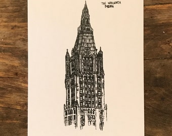 Woolworth Building Notecard