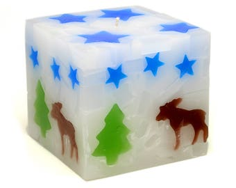Cosmic Candles Moose Square Pillar Unscented 4x4
