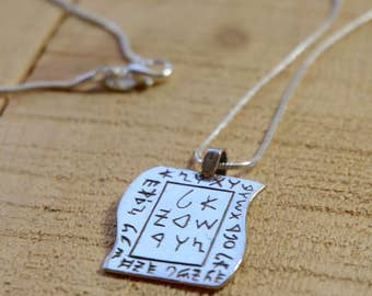 Necklace with Incarnation and Karma Awareness Amulet in 925 Sterling Silver