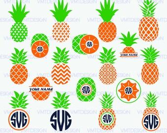 Pineapple SVG - Pineapple Monogram SVG - Pineapple Monogram digital clipart for Design or more, Files download eps, png, jpg, svg