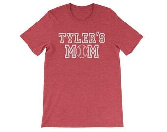 Personalized Baseball Mom Shirt, Custom Baseball Mom Shirt, Baseball Mom T Shirt, Women Baseball Shirt, Custom Baseball Mom T-Shirt