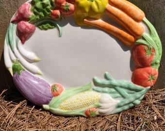 Ceramic Oval  Vegetable Platter