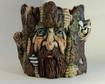 Ent Sculpture - Tree Face - Tree Spirit - Unique Gift Items - LOTR Gifts - Holiday Gifts - Our Family Crafts