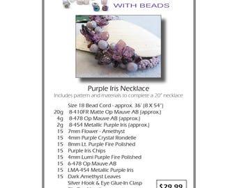 Purple Iris Necklace Kit