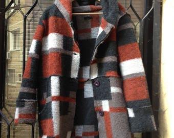 Wool Jacket in patchwork design