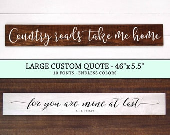 LARGE Custom Quote Sign, Custom Wood Sign, Custom Signs, Wood Sign Gift, Wood Gift Men, Lyrics Sign, Wedding Gift, Personalized Wood Sign