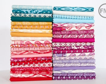 Half Yard Bundle Spellbound Complete Collection and Bella Solids, 41 Pieces, Urban Chiks, 100% Cotton, Moda Fabrics, 31110