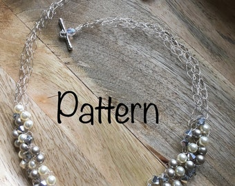 Beaded Wire Crochet Necklace - Pattern Only