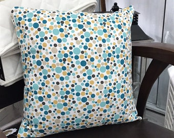 Geometric cotton pillow