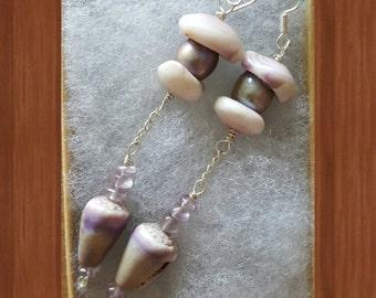 Long Dangle Hawaiian Shell Earrings