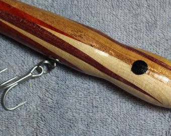 """Fishing Lure, Assorted Quality Hardwoods, 7"""" and 3.0 oz  Black Eyed Lures, Free Shipping # L50"""