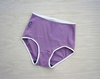 Organic cotton underwear, high waist panties, handmade underwear, organic lingerie shop