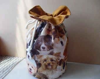 treasure dogs print bag