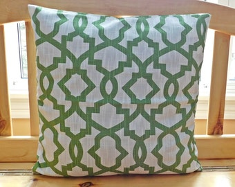 Decorative Pillows  - Geometric Pillow Case - Cushion Cover - Pillow Cover - Home Decor Pillow - Throw Pillows - Green and White Pillow Case