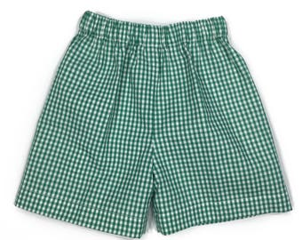 Gingham Shorts ~ Green