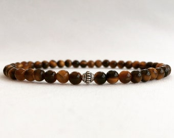 Tiger eye bracelet, Tigers eye stacking bracelet, Mens Tiger's eye bracelet, Men's bracelet, gift for him, fiancé gift, boyfriend gift, dad