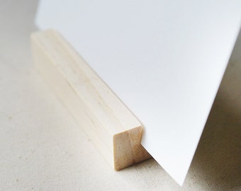 5 x Wood Block Stands (Small) for Cards + Photos + Prints