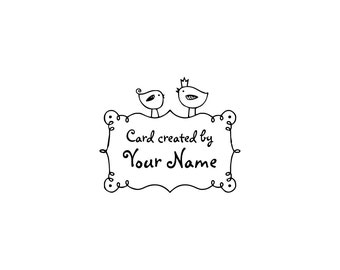 Handle Mounted or Cling Personalized Name custom made rubber stamps C31