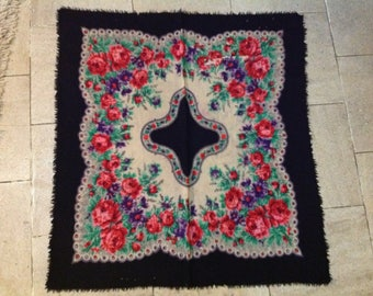 Russian wool scarf