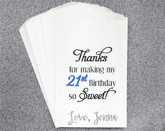 B8, Birthday, gift bags, favor bags, candy bags, candy buffet, personalized bag, Treat Bag, Sweets, Thank You Bag, Candy Table, Quinceañera