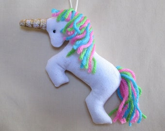 Fabric Unicorn keychain, ornament, accessory