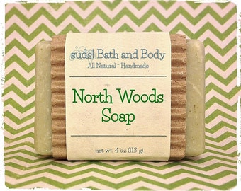 North Woods Soap - Men's Soap, Father's Day, Natural Soap, Handmade Soap, Gift Ideas for Him