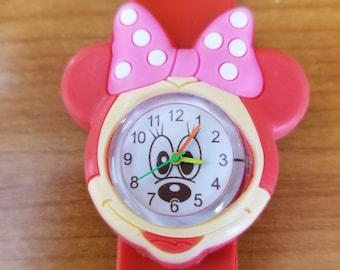 Kids Minny Mouse style SLAP watch