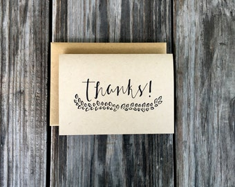 Thank You Card Set, Rustic Thank You Cards, Baby Shower Thank You Notes