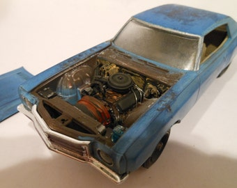 Scale Model ,Classicwrecks Car, Ace Ventura ,Monte Carlo,BlueChevy,ModelHobby