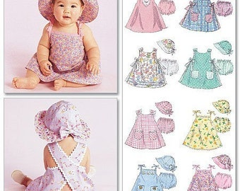 BABY CLOTHES PATTERN / Sundress - Hat with Bow and Brim - Panties / Mix And Match Outfits