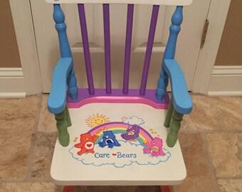 Care Bears Rocking Chair - care bears chair - care bears nursery - care bears kids - care bears gift - care bears baby