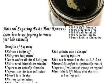 Sugaring paste natural hair removal - thicker hair, Body Sugaring, sugaring wax, sugar paste, sugar hair removal, natural sugaring 8 oz