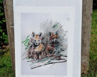 Fox Friends Giclee Print