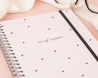 ivf diary - ivf journal - ivf gift friend - ttc planner - a diary for ivf - trying to conceive gift - my ivf journey - ttc gift - pocs - iui