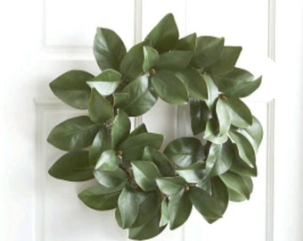 Lovely, Real Magnolia Leaf Wreath/Cottage Home Decor/Fresh Door Decor/Wall Accent/Fresh Magnolia Floral Display/Entry Decor/Farmhouse wreath