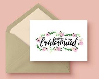 Will you be my bridesmaid? | 8 card set