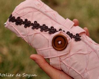 Crochet Case Crochet Hook Case Crochet Hook Holder Needle Case Craft Bag in Textured BabyPink