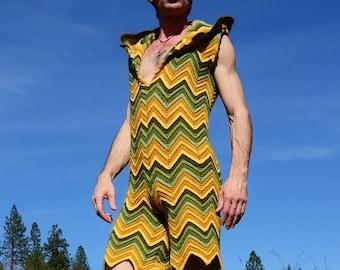 Crochet Onesie Springtime Elf Suit